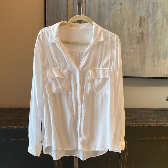Bella Dahl Button Down Double Faux Pocket Shirt